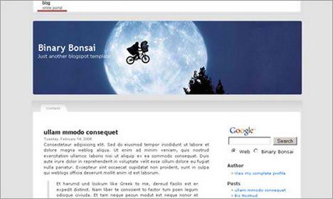 Binary Bonsai Blogspot Template Free Download