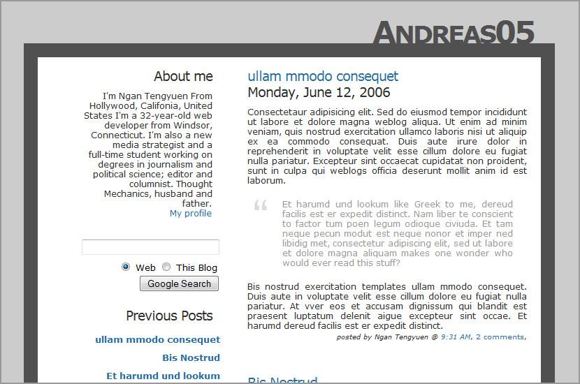 andreas 05 blogspot template design download