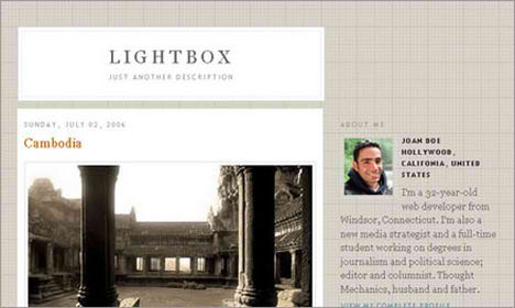 photoblog blogger template javascript