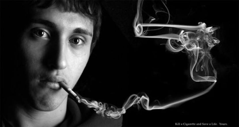 smoking ads. Creative Guerilla Quit Smoking