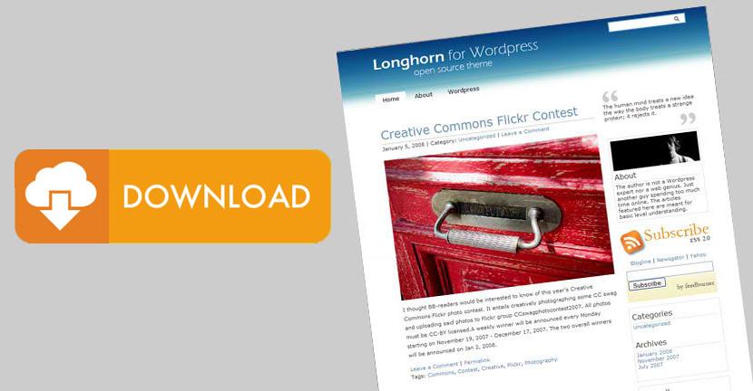 Longhorn - Simple and Minimalist WordPress Theme