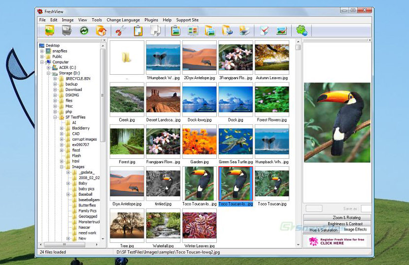 Fresh View Open Source Tor Bittor Screen Shot