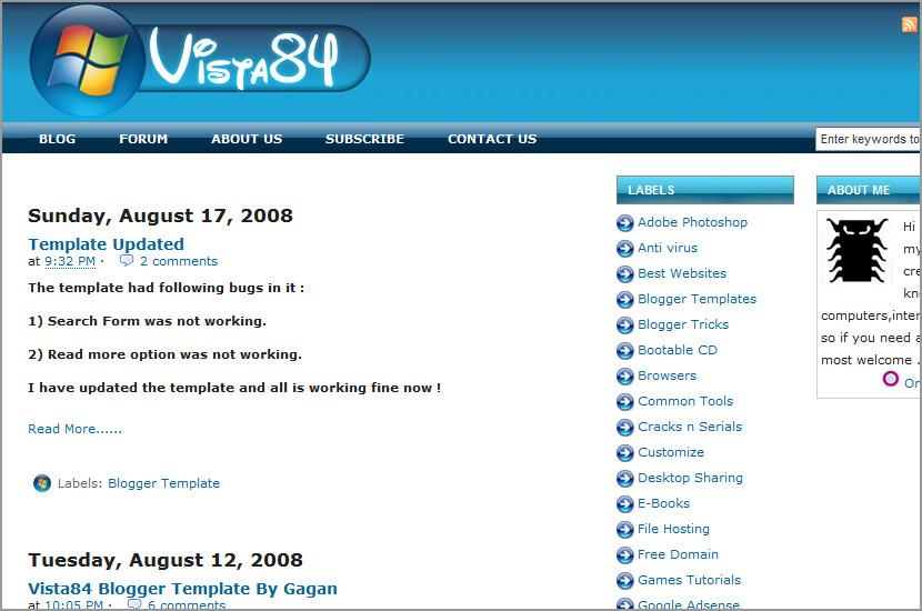 vista xml blogger blogspot