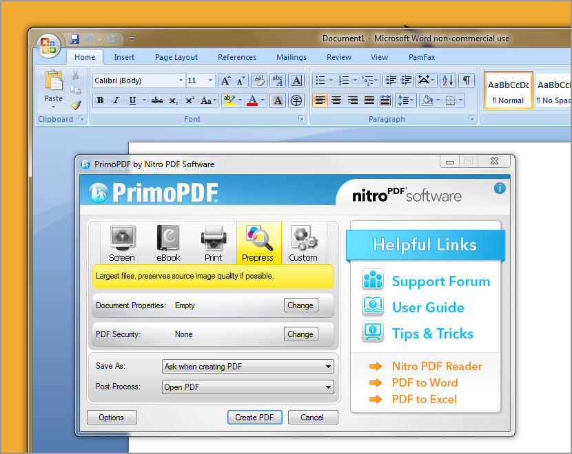 primo pdf printer