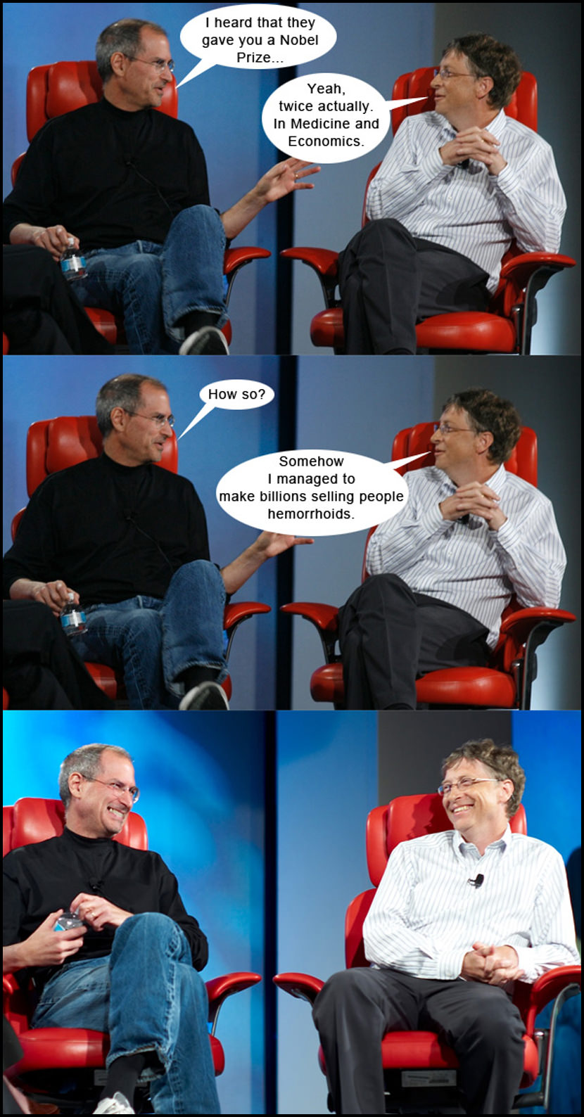For those that doesn't get this joke, for your information, Bill Gates is not the biggest share holder of Microsoft, he has been selling down his share in Microsoft for many years and have invested his wealth in medical and services industries such as Four Season hotels.