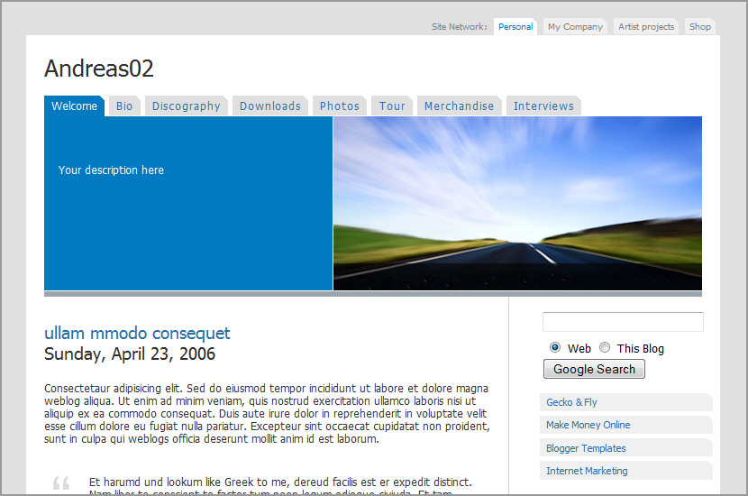 andreas 02 blogger template