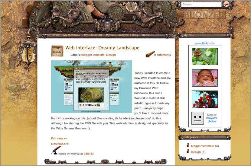edurate blogspot template