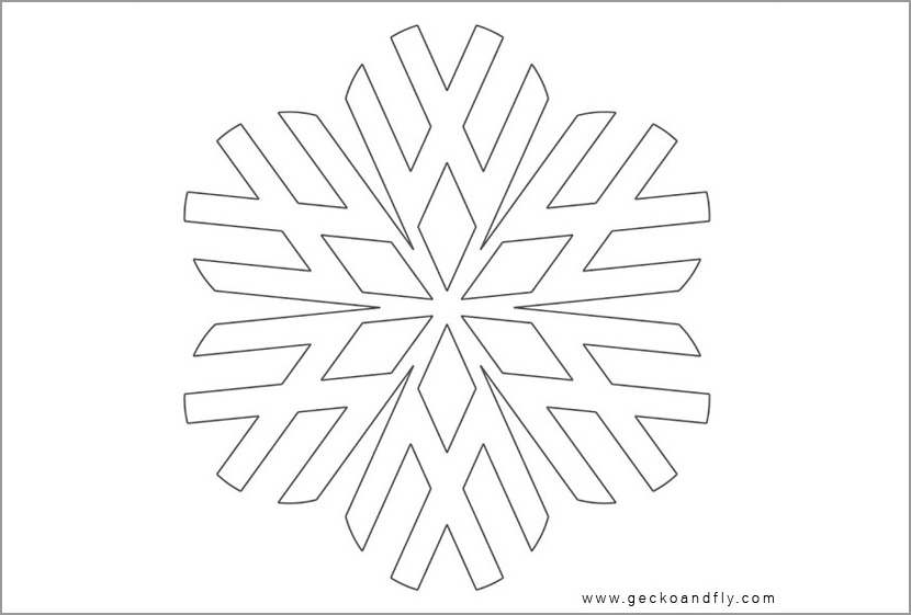 snowflake diy creative christmas card