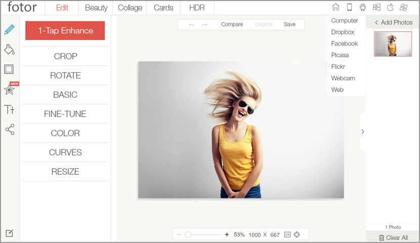 online photo editor Free Online Photo Editor Alternative on iPad Tablet For Adobe Photoshop CS User