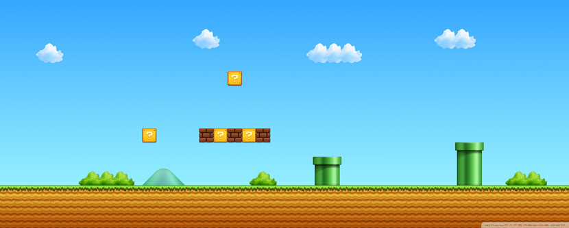 mario Dual Screen Monitor HD Wallpaper