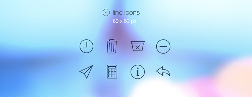 line full icons tab bar ios 7 vector psd