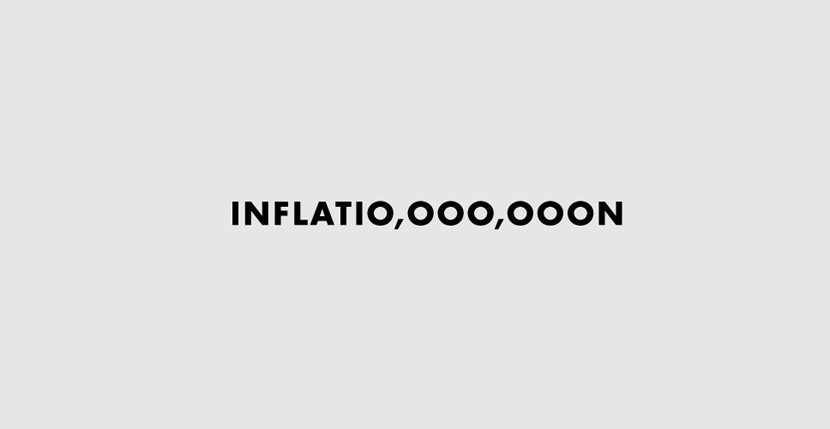 Inflation Creative Word Art Images As Iconic Logos