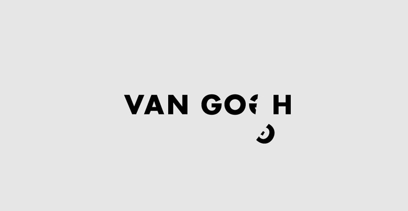 Van-Gogh Creative Word Art Images As Iconic Logos