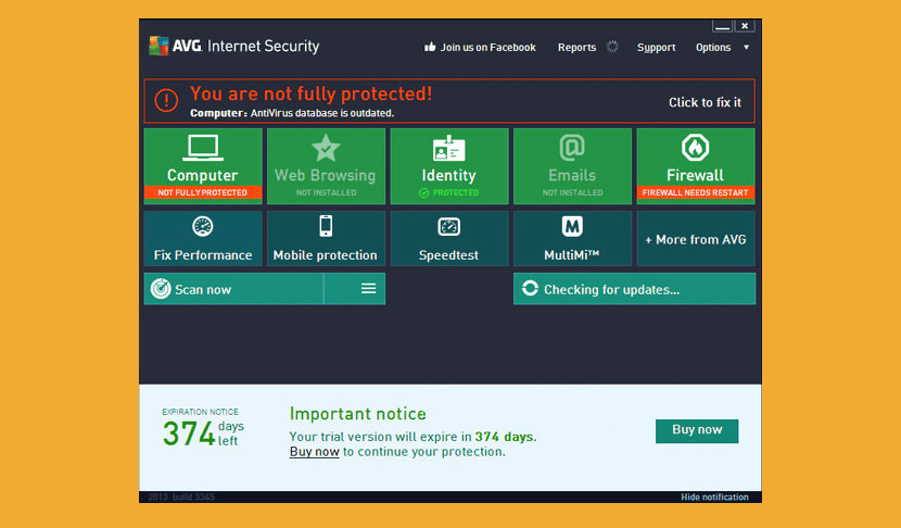 avg internet security free license number