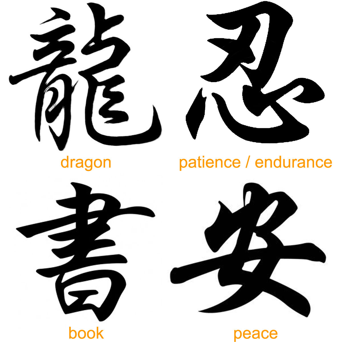 More Chinese Japanese Kanji Tattoos