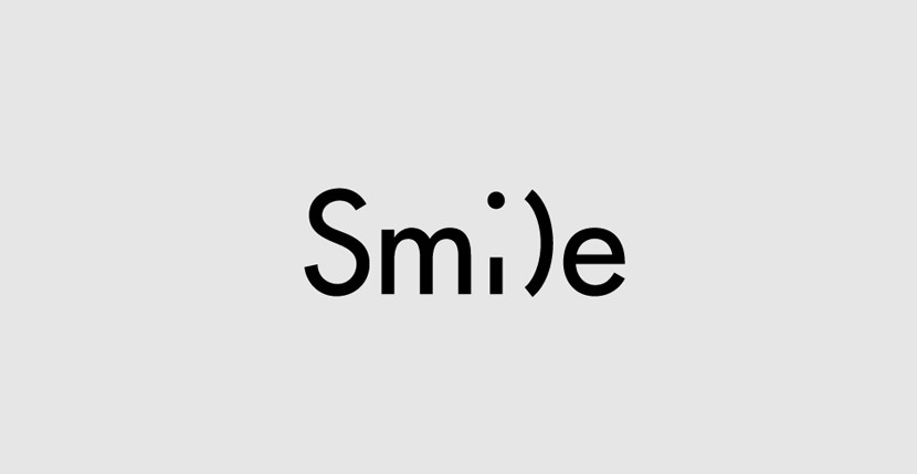 smile Creative Word Art Images As Iconic Logos