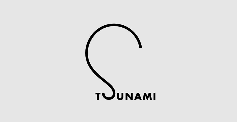 tsunami Creative Word Art Images As Iconic Logos