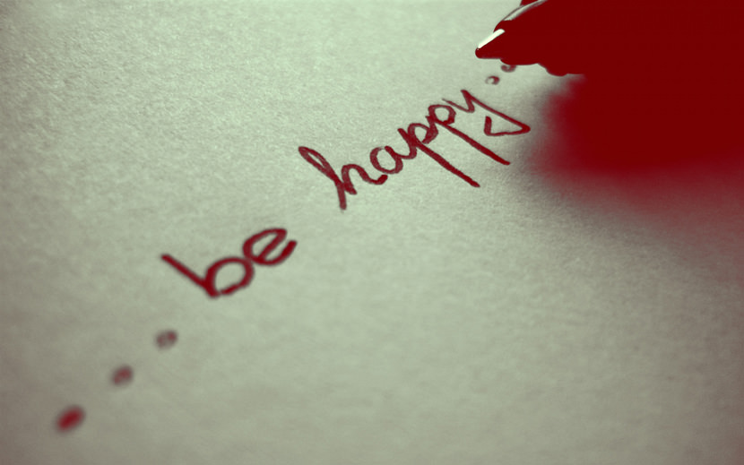 be happy...