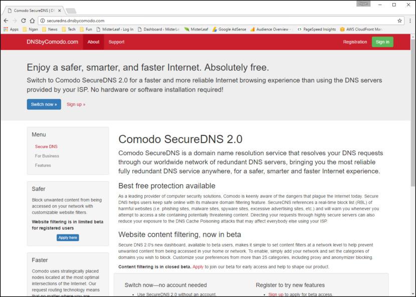 Comodo SecureDNS 2.0