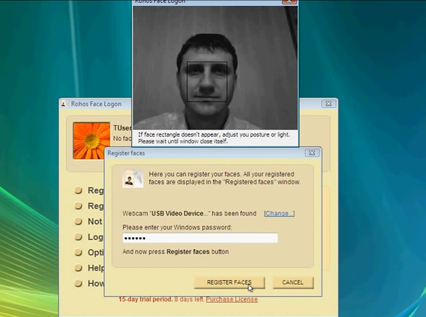 rohoas face password windows