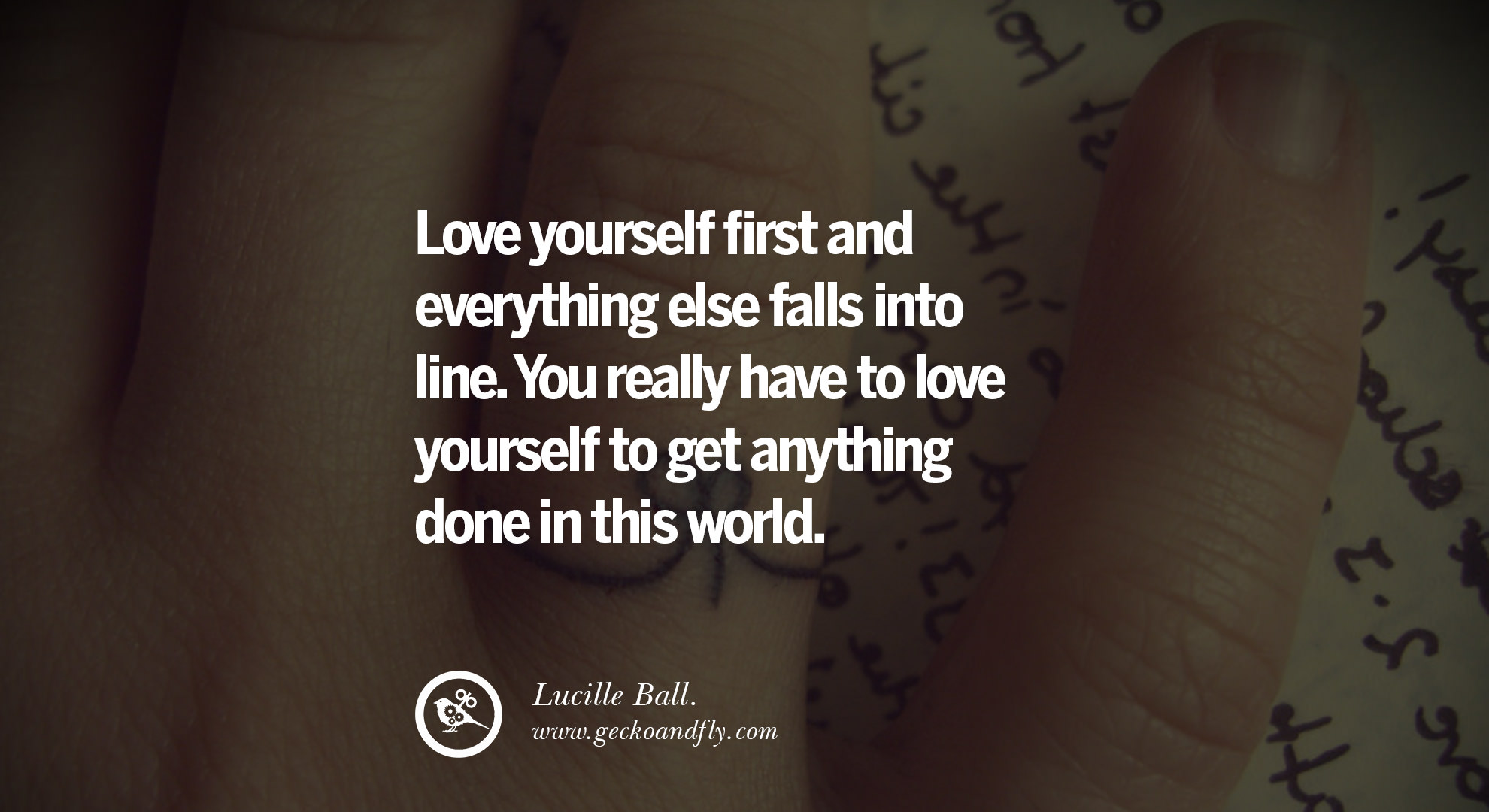 40 Quotes About Love : quotes about love Love yourself first and everything else falls into ...