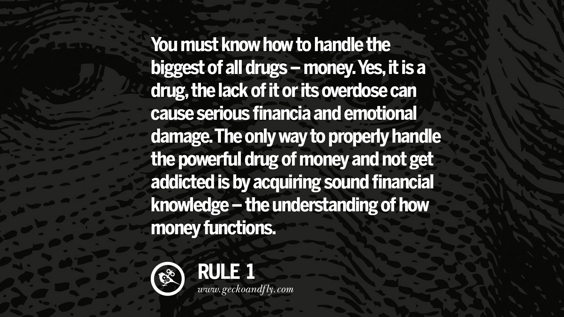 Drug Quotes 10 Golden Rules On Money & 20 Inspiring Quotes About Money