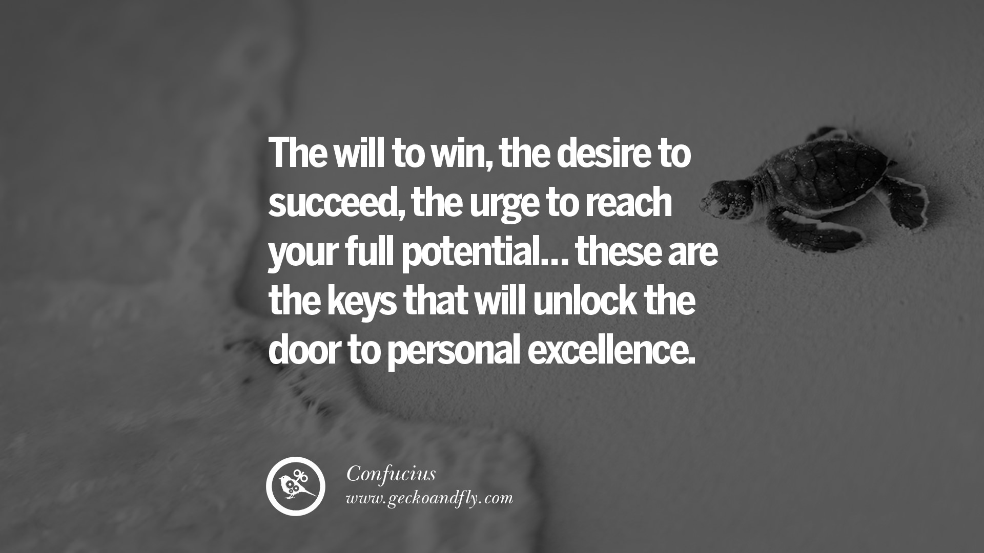 The will to win the desire to succeed the urge to reach your full potential these are the keys that will unlock the door to personal excellence