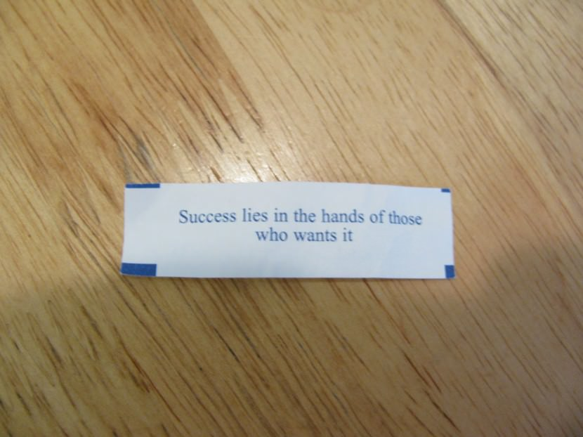 Success lies in the hands of those who wants it. Best Inspirational Chinese Japanese Fortune Cookie Quotes and Sayings On Life For Facebook And Tumblr
