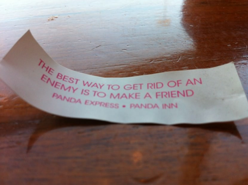 The best way to get rid of an enemy is to make a friend. Best Inspirational Chinese Japanese Fortune Cookie Quotes and Sayings On Life For Facebook And Tumblr