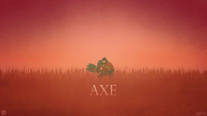 Axe download dota 2 heroes minimalist silhouette HD wallpaper