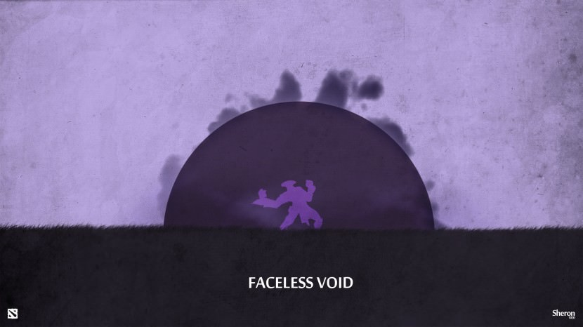 Faceless Void download dota 2 heroes minimalist silhouette HD wallpaper