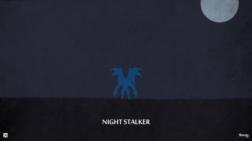 Night Stalker download dota 2 heroes minimalist silhouette HD wallpaper