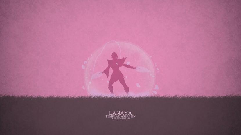 Templar Assassin Lanaya download dota 2 heroes minimalist silhouette HD wallpaper