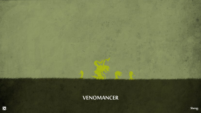 Venomancer download dota 2 heroes minimalist silhouette HD wallpaper