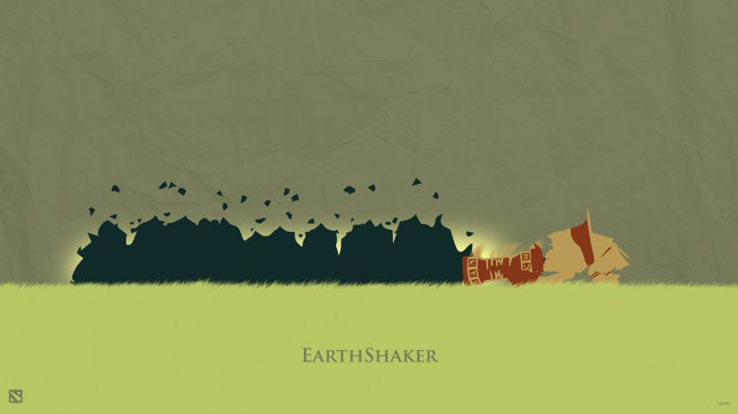 Earth Shaker download dota 2 heroes minimalist silhouette HD wallpaper