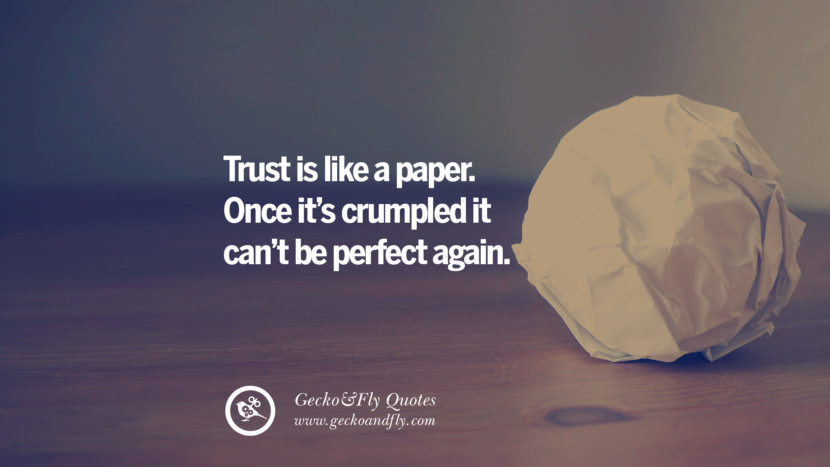 Trust is like a paper. Once it's crumpled it can't be perfect again. love long distance relationship quotes tumblr instagram Love Quotes On Long Distance Relationship And Romance twitter reddit facebook pinterest