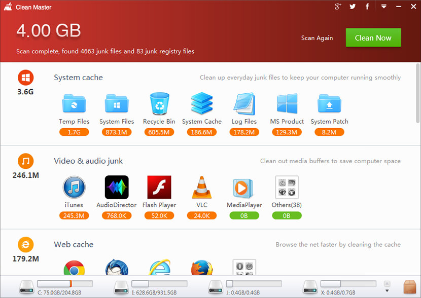 clean master pc free Free Software To Free Up SSD Disk Space & Clean Your Computer PC System