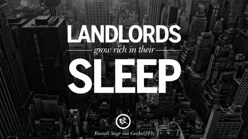 Landlords grow rich in their sleep - John Stuart Mill Quotes on Real Estate Investing and Property Investment