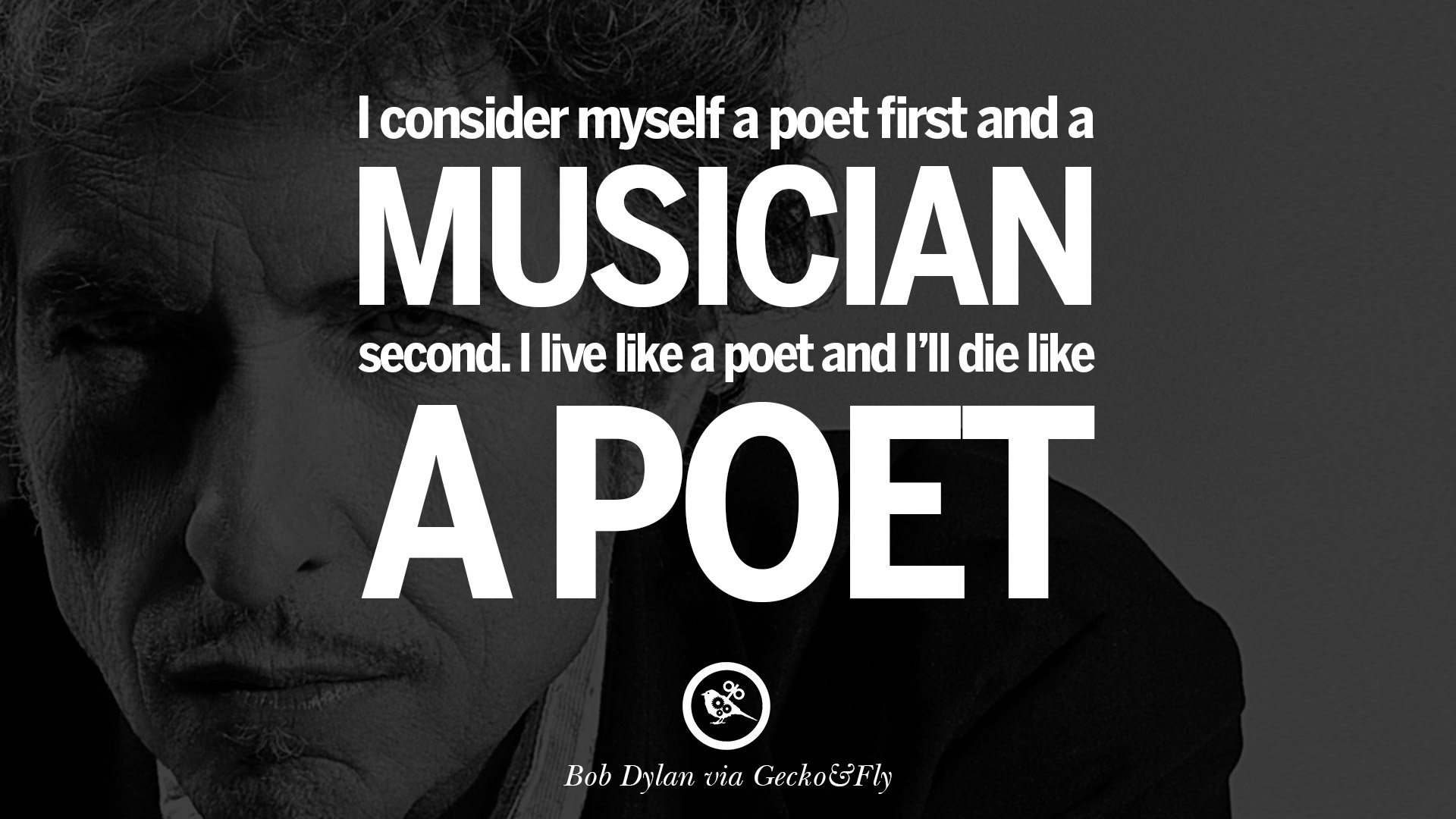 bob dylan poetry This course is about the pleasures of poetry, with plenty of specific examples the  underlying principle is: the more you know about an art, the more pleasure.