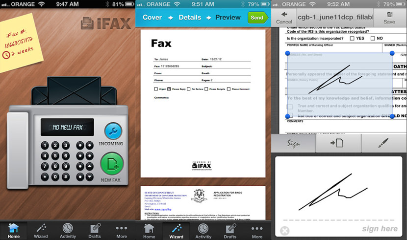 ifax Best Fax App For iOS iPhone, iPad And Android Smartphone Tablet