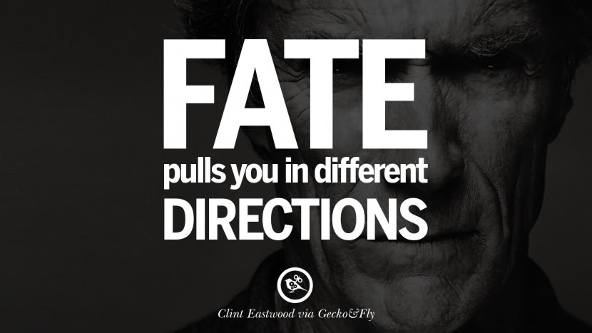 Fate pulls you in different directions.