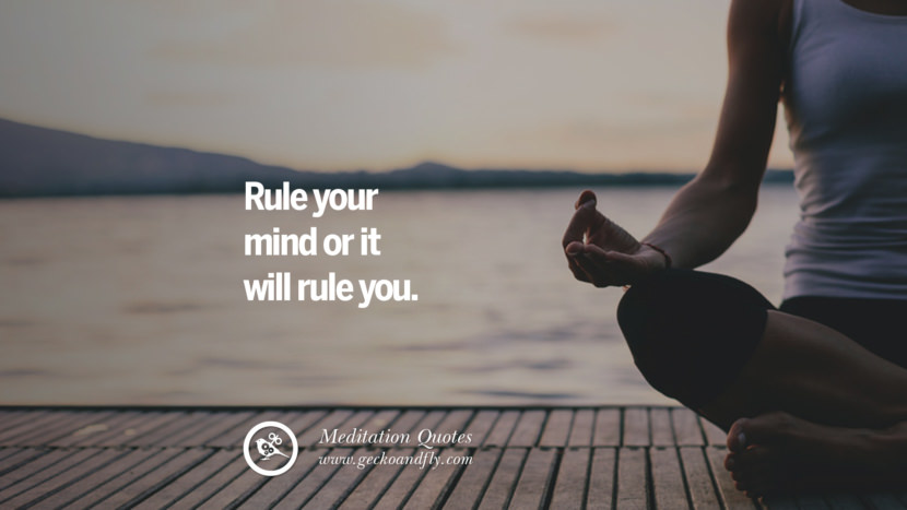 Rule your mind or it will rule you. facebook instagram twitter tumblr pinterest poster wallpaper free guided mindfulness buddhist meditation for yoga sleeping relaxing