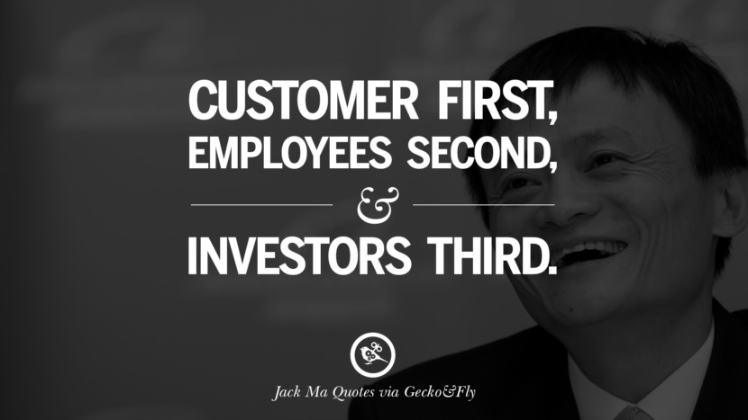 Customer first, employees second, and investor third.