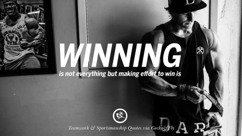 Winning is not everything but making effort to win is. Quotes Sportsmanship Teamwork Sports Soccer Fifa Football Cricket NBA Basketball Hockey Tennis Volleyball Table Tennis Baseball Rugby American Football Golf facebook twitter pinterest team work sports saying live online olympics games teamwork quotes inspirational motivational