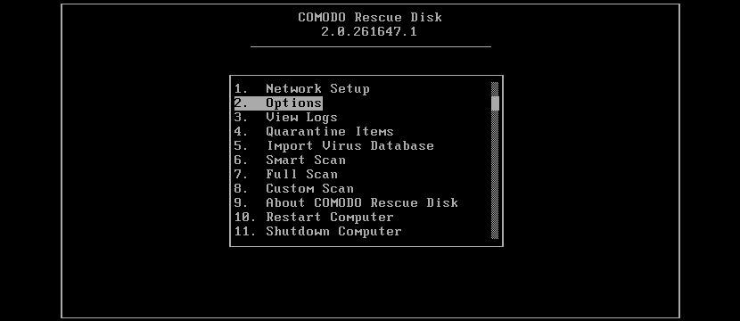 comodo rescue disk