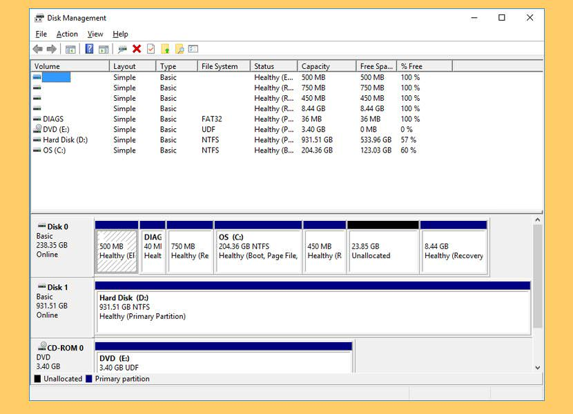 windows disk management Freeware For Re-partitioning A Hard Drive without Formatting The Disk