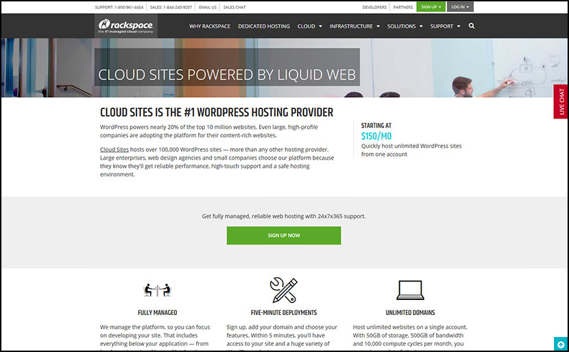 rackspace dedicated web hosting