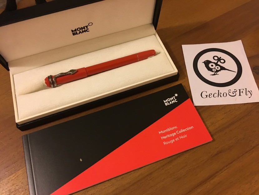 Montblanc Heritage Collection Rouge et Noir Special Edition Coral Fountain Pen