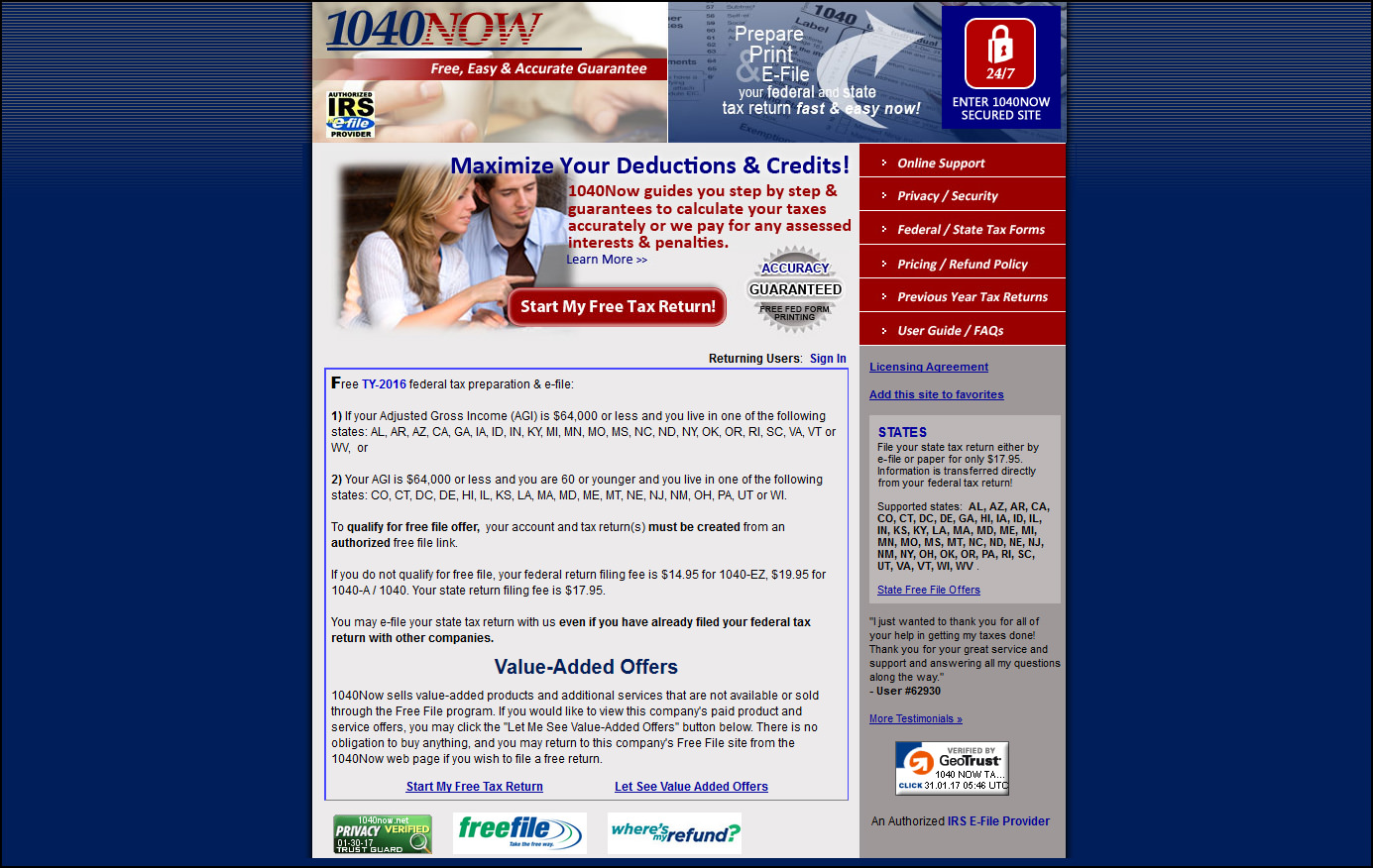 11 Free Software To File IRS Income Tax Return Online, Claim Tax ...