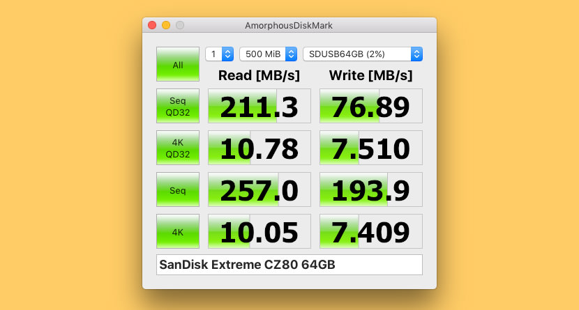 AmorphousDiskMark SSD And HDD Effective Read Write Speed